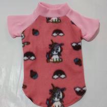 Roupa para cachorro e gato inverno Blusa Básica rosa com manga Ninelai - Tamanhos do 00 ao 8 -
