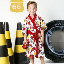 Roupão Infantil Felpudo Disney Carros Tam P (4 A 6 Anos) Lepper -