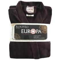 Roupão Quimono Europa Microfibra (Tam M) - Marrom -