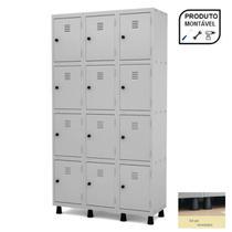 Roupeiro de Aço c/ 12 Portas PEQUENAS - 1,93x1,03x0,40m - CZ/CZ - PANDIN - 10007 -