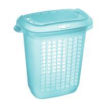 Roupeiro de plástico sanremo 46,4l azul tiffany -