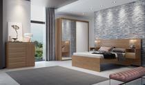 Roupeiro Inovatto 2070 C/ Porta Espelho Ebano/Branco com 2 portas 100% MDF Belmax -
