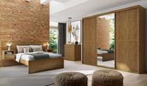 Roupeiro Sofisticato 2270 C/ Porta Espelho Álamo com 3 portas 100% MDF Belmax -
