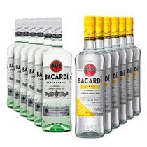 Rum Bacardi Carta Blanca/Limon 980ml - Kit 6 Unidades Cada -
