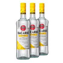 Rum Bacardi Limon 980ml - Kit 3 Unidades -