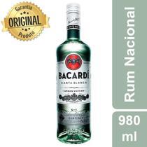 Rum Carta Blanca Garrafa 980ml - Bacardi -