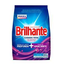 Sabão em Pó Brilhante Cuidado Total Sanitizante 800g Embalagem com 16 Unidades -