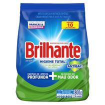 Sabão Em Pó Brilhante Higiene Total Sanitizante 800g - Embalagem c/ 16 unidades -