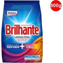 Sabão em Pó (Lava Roupas) Brilhante Sanitizante Limpeza Total 800g - Unilever -