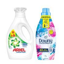 Sabão Liquído Ariel 1,2L + Amaciante Downy Brisa de verão 1L -