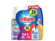 Sabão Líquido Brilhante Limpeza Total Concentrado - Refil 500ml com Garrafa -
