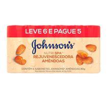 Sabonete Barra Johnson's Amêndoas 80g Leve 6 Pague 5 -