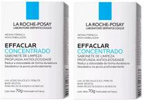 Sabonete Barra La Roche-Posay Kit Effaclar Concentrado 2x 70g -