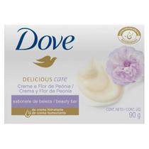 Sabonete Dove Delicious Care Creme e Flor De Peônia 90g -