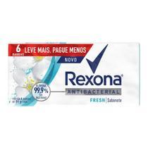 Sabonete em Barra Antibacterial Fresh Rexona 84g com 6 Unidades -