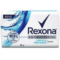 Sabonete em Barra Antibacteriano 84g Limpeza Profunda Rexona. Elimina 99,9% das bactérias. - Unilever
