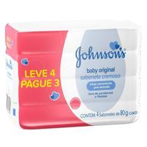 Sabonete em Barra Johnson's Baby 80g Leve 4 Pague 3 -