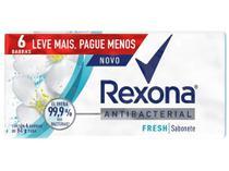 Sabonete em Barra Rexona Antibacterial Fresh - 84g 6 Unidades
