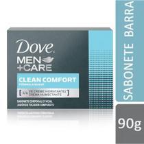 Sabonete Em Barra Uso Diário Dove 90G Men Care Clean Comfort -