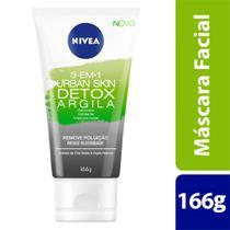 Sabonete Esfoliante e Máscara Facial - Nivea Urban Skin Detox - 166g -