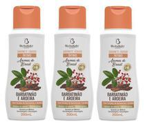 Sabonete íntimo barbatimão e aroeira  aromas do brasil bio instinto kit com 3 unidades -