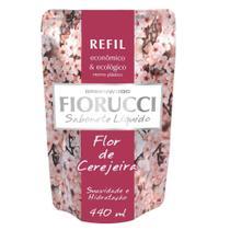 Sabonete Liquido Refil Flor de Cerejeira 440ml 1 UN Fiorucci -