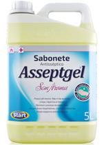 Sabonete liquido  sem aroma asseptgel  5 litros  start -