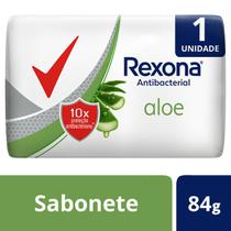 Sabonete Rexona Antibacterial Aloe - 84g -