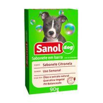 Sabonete Sanol Dog Citronela para Cães e Gatos 90g -