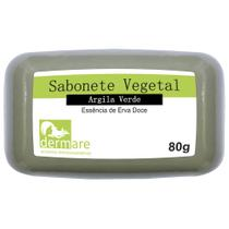 Sabonete Vegetal de Argila 80g Verde Dermare -