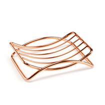 Saboneteira Retangular em Aço Linha Rosé Gold - Arthi -