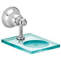 Saboneteira Vidro Metal Para Banheiro Parede Porta Sabonete Premium - Tfc