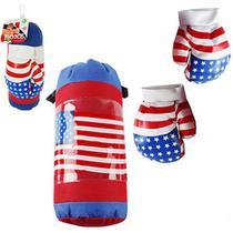 Saco Boxe/Pancada Kit Luva Infantil Criança  USA - Ark Brasil -