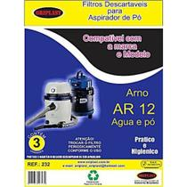 Saco compatível arno água e pó  ar12 - kit c/2pcts (6unids) - Oriplast