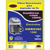 Saco compatível electrolux hidrovac 1300w kit 6 und - Oriplast