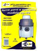 Saco De Aspirador Po Descartavel Eletrolux Hidrolux Ap40 - Portopel