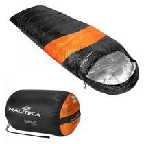 Saco de Dormir Viper 5 C a 12 C Nautika - Preto/Laranja -