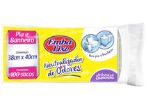 Saco de Lixo Branco Perfumado para Banheiro - Embalixo Neutralizador de Odores 100 Unidades
