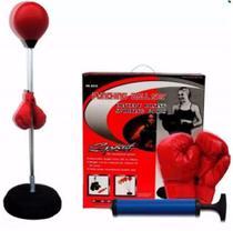 Saco de pancadas boxe de chao punching ball kit com luvas e altura ajustável adulto - MAKEDA