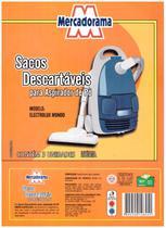 Saco de papel descartavel para aspirador de po 3 UN MONDO - Eletrolux