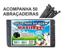 Saco De Silo Para Silagem Preto51 X 110 cm 50 unidades - Maxilona