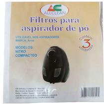 Saco Descartável Aspirador Arno Nitro 1300w, Compacteo 1600w -