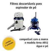 Saco Descartavel Para Aspirador Arno  C/3 Unidades - Oriplast