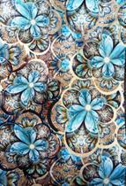 Saco metalizado - flower stylish blue: 20x29 c/ 50 un - Wp+