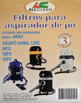 Saco Para Aspirador De Pó Compativel com Arno AR12 / Aguapó - Allclean