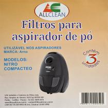 Saco Para Aspirador De Pó Compativel com Arno Nitro / Compacteo - Allclean