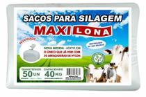 SACO PARA SILO 60X110 cm  BRANCO RF 200 MICRAS + 50 ABRAÇADEIRAS DE NYLON - MAXILONA