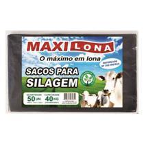 Saco Silagem Preto 51x100cm 200 micras capacidade 40Kg fardo com 50 unidades - Maxilona