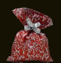 Saco soft touch - arabesco vermelho: 30x44 c/ 50 un - Wp+