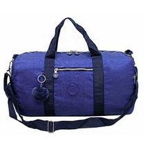Sacola Bolsa de Viagem com Pompom Azul Marinho Cruzeiro -